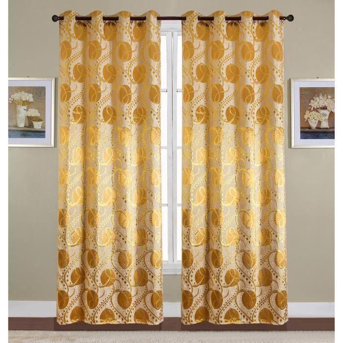 Paire de double rideaux - 140x260 cm - Beige taupeRIDEAU - DOUBLE RIDEAUX