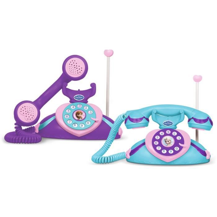 LA REINE DES NEIGES Deux Téléphones Intercom Talkie Walkie