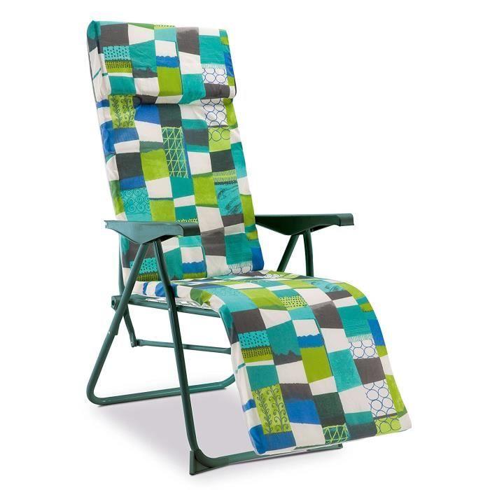fauteuil jardin fauteuil relax de jardin 5 positions matelass 3 - Relax De Jardin