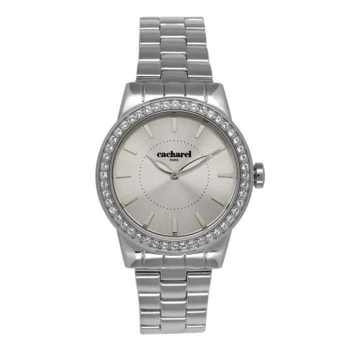 2ec6c42ee4 Cacharel - CLD 010S-FM - Montre Femme - Quartz Analogique - Cadran Argent -  Bracelet Acier Argent