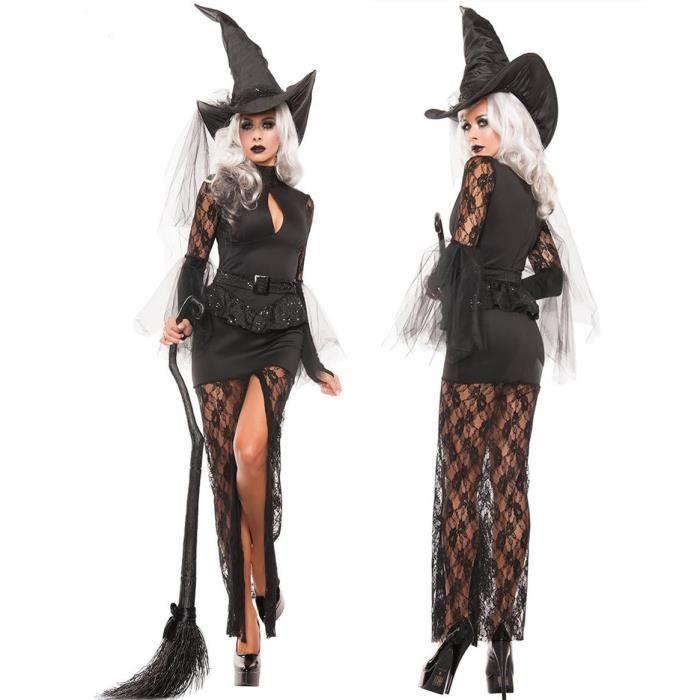 deguisement d halloween sorciere femme achat vente jeux et jouets pas chers. Black Bedroom Furniture Sets. Home Design Ideas
