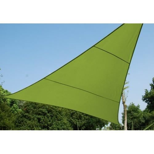 toile solaire triangle 3m anori vert hesperide achat vente voile d 39 ombrage toile solaire 3m. Black Bedroom Furniture Sets. Home Design Ideas