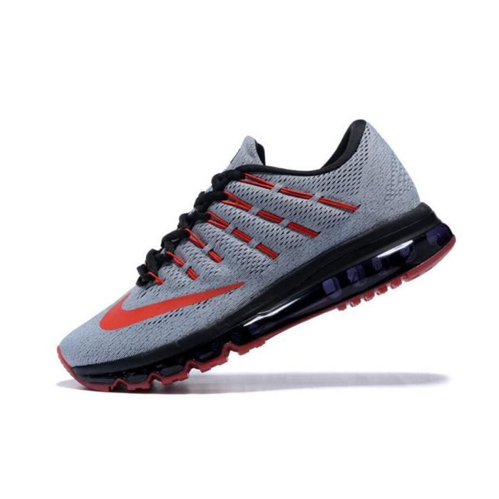 Hommes Nike Air Max 2016 Chaussures de running gris rouge et