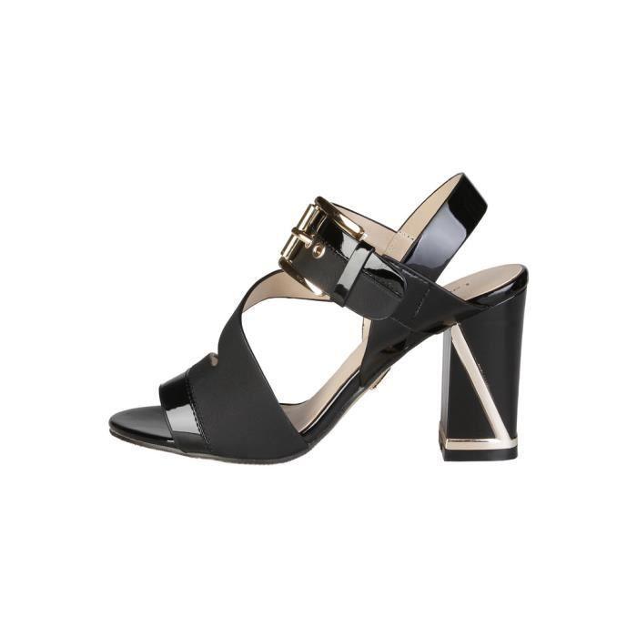 Cyllene Fantaisie - Sandales pour femme (400_PATENT_BLACK) - Noir
