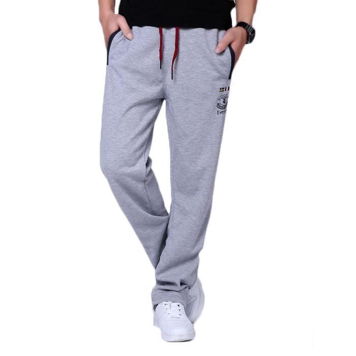 Pantalon de jogging Homme sport musculation coton Pantalon Homme ... 5d721e30f3d9