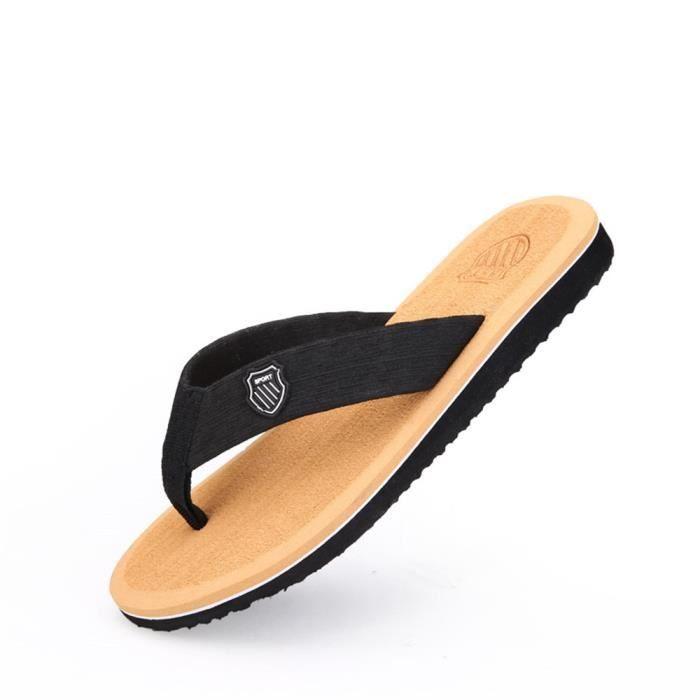 Sandales pour hommes luxueux design plat élégant Flip-Wearable j5tZDoBInM