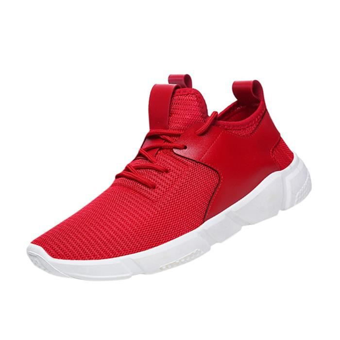 Chaussures Sports Hommes Solides Mode Straps Course Casual yini5848 À Pied w7wIxa