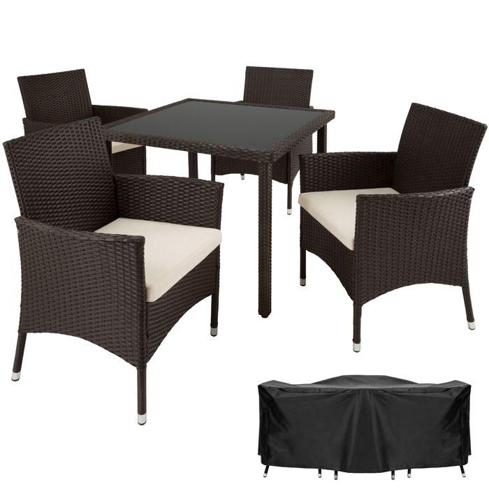 Chaises Salon Jardin Résine Sevilla 4 Table Tectake En De 1 Et H2IYE9WD
