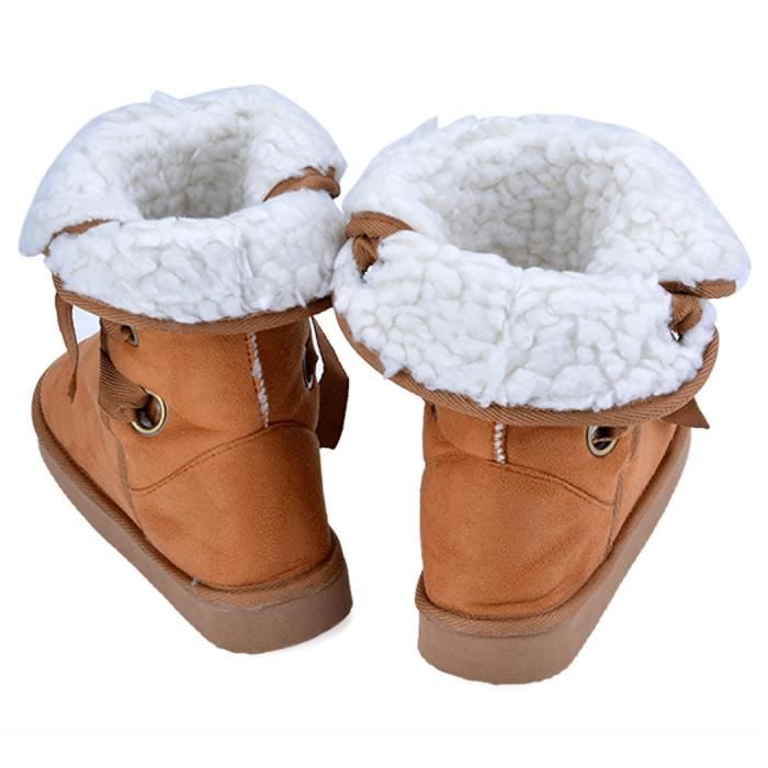 Bottine Chaussure de neige 5 couleurs Chaussure en fausse fourrure de neige Taille 37-40