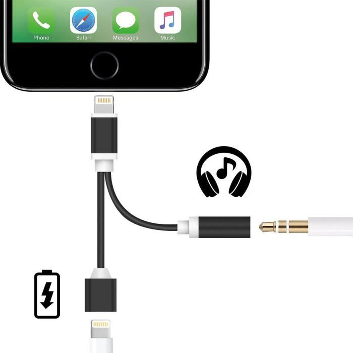 Adaptateur Jack Chargeur Iphone