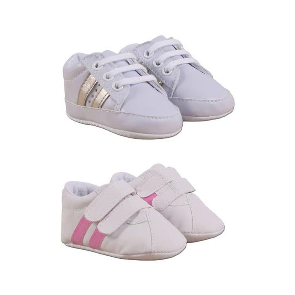 90c8888247a03 Chaussures Bébé Lot de 2 Rose Rose - Achat   Vente babies - Cdiscount