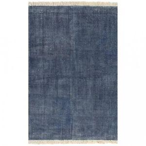 TAPIS P134 vidaXL Tapis Kilim Coton 160 x 230 cm Bleu