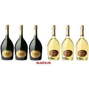 CHAMPAGNE Lot Découverte de 6 Magnums de Champagne Ruinart B