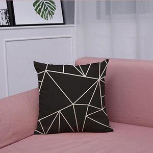HOUSSE DE COUSSIN Vintage Black & White Coton Linge de lit Coussin H