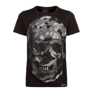 t shirt philipp plein pas cher,2017 Nouveau T Shirt Philipp Plein Homme pas  cher Col rond de coton Modes 8353 18a52c86735d