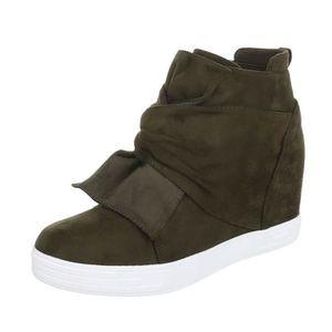 BOTTINE Sneakers pour femmes | Sneaker Wedges | talon comp