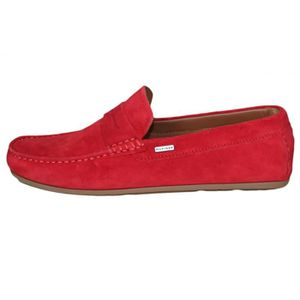 Cher Daim Rouge Mocassin Vente Homme Achat Pas Yyvf76gb