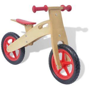 PORTEUR - POUSSEUR Vélo d'équilibre en bois rouge
