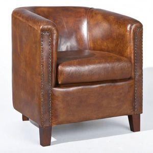 fauteuil cuir industriel achat vente fauteuil cuir industriel pas cher cdiscount. Black Bedroom Furniture Sets. Home Design Ideas