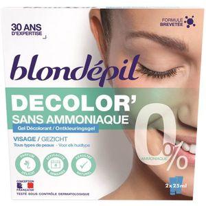 DÉCOLORATION POILS BLONDEPIL Gel décolorant Decolor' - Pour visage -