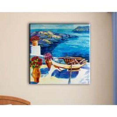 Deco Soon - Tableau Barque Grecque - 40 x 40 cm - Achat / Vente ...