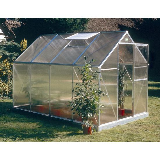 ab8344793047e5 Serre en polycabornate Basic 600 5,83 m² ACD - Achat   Vente serre de  jardinage Serre en polycabornate Basi... - Cdiscount