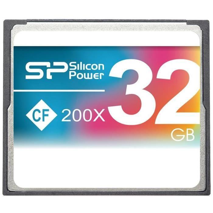 SILICON POWER Carte mémoire Compact Flash 200X - 32 Go