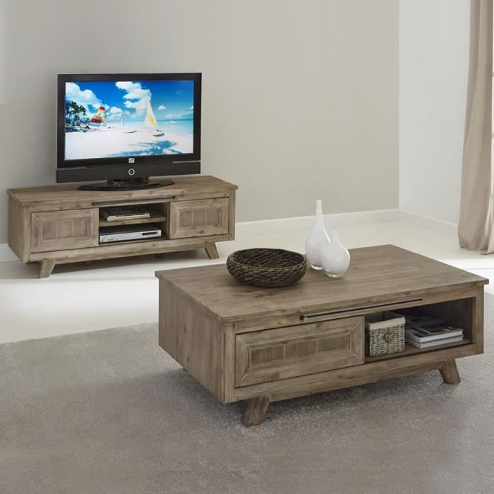 revendeur 0365a a2863 Fjord - Ensemble Table Basse + Meuble TV