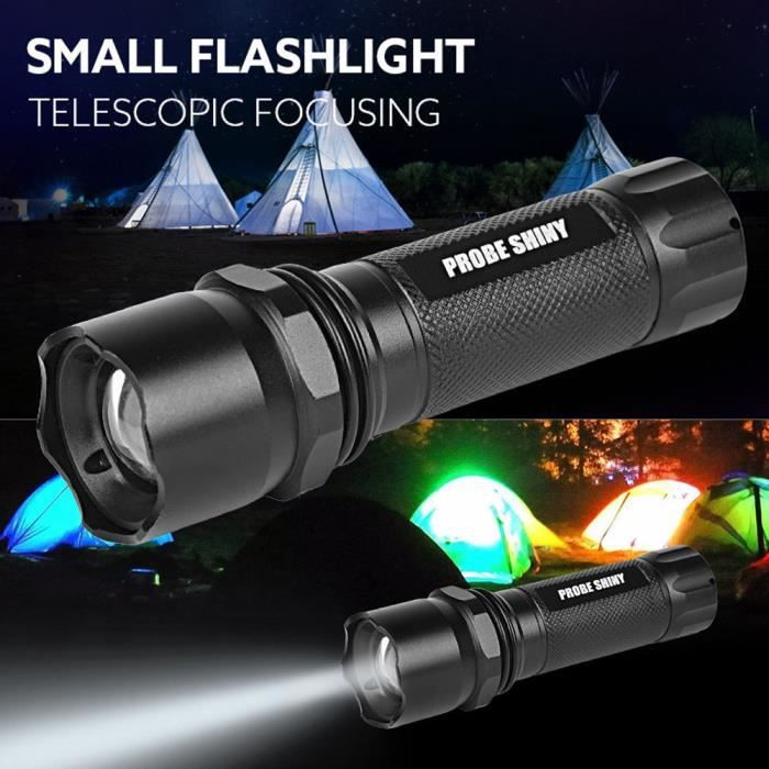 5000lm Cree Q5 Aaa 3 Modes Zoomable Lampe Torche Led Achat Vente