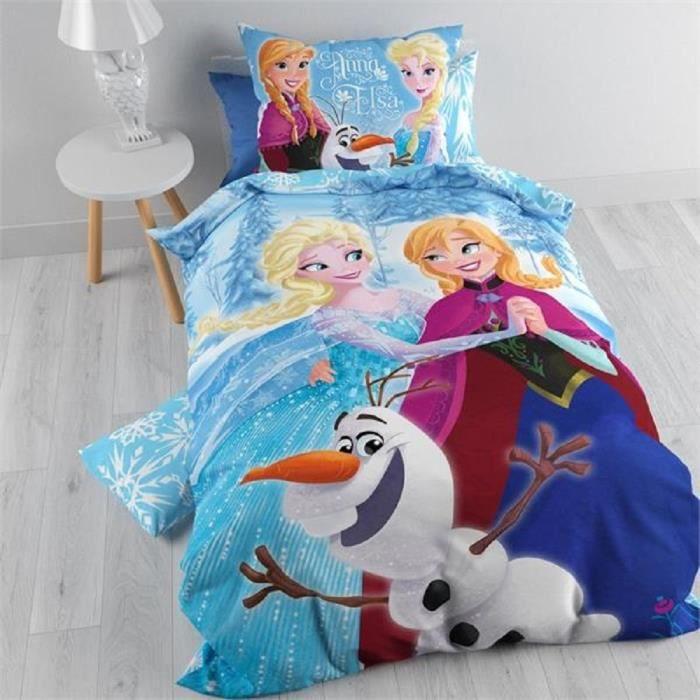 Housse De Couette Reine Des Neiges Parure De Lit Frozen Princesse