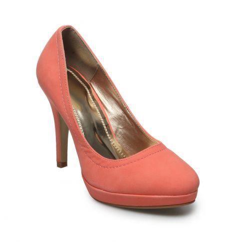 Escarpins classiques aspect cuir rose