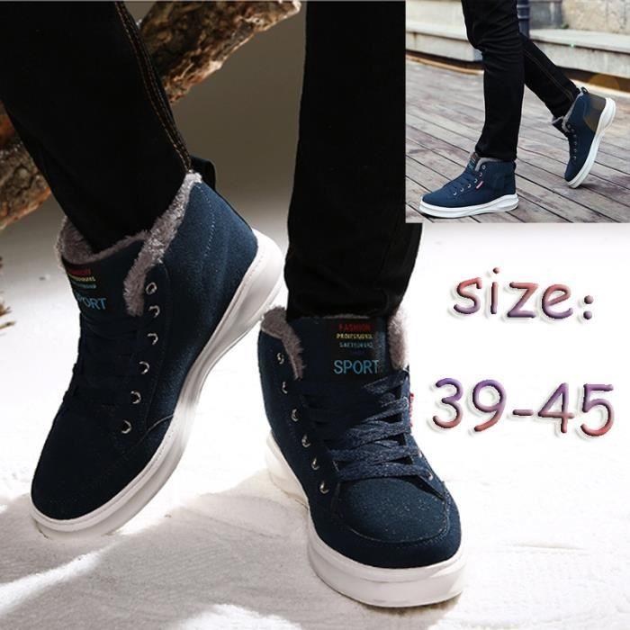 Noir Bottes Homme Pour Chaussures Jar34lq5 10 Fashion D'hiver Style yNnmOPwv80