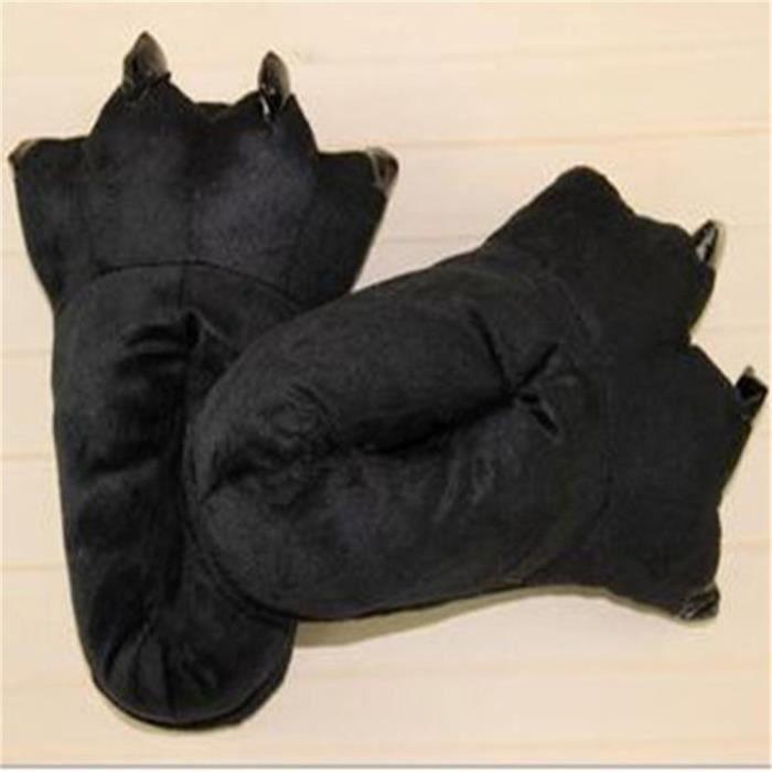 Chausson Hiver Chaussures Femmes Hiver SéRie à Domicile Chausson Femme Chaussures Chaussure Hiver Grande Taille 35-45,noir,45