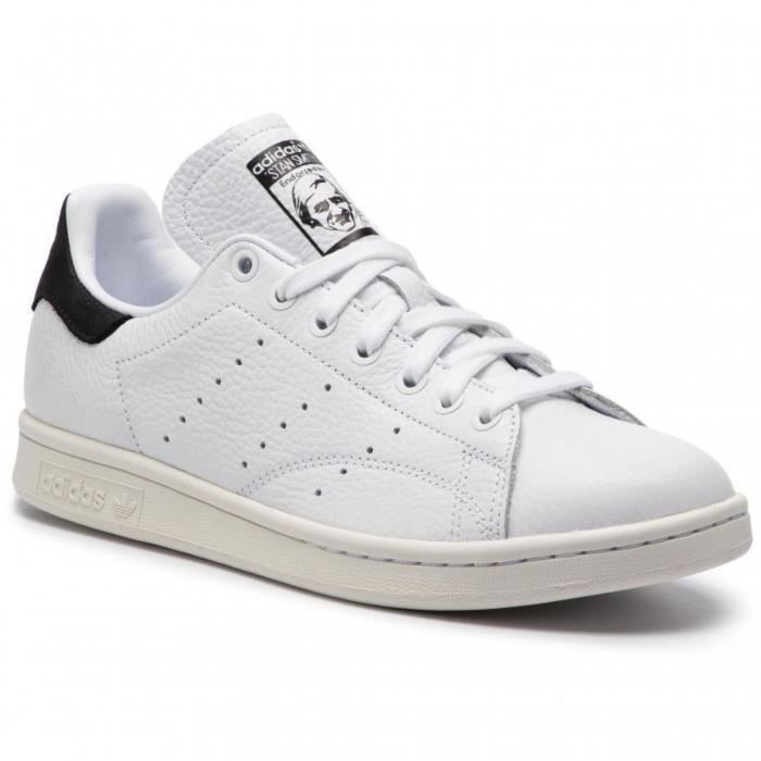 5aff3a01061a Chaussures Adidas Stan Smith Blanc Blanc - Achat / Vente basket ...