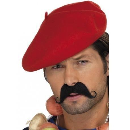 2bd38e8b98d1 Béret rouge adulte - Achat   Vente chapeau - perruque - Cdiscount