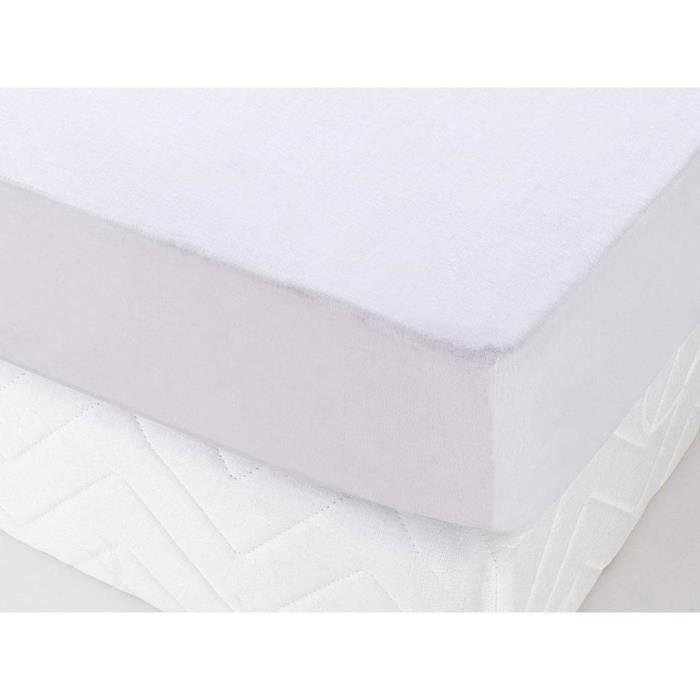 protège matelas molleton en coton très épais 140x190 cm canelle