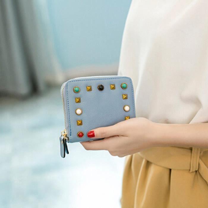Portefeuille Mini Femmes Petite Multifonctionnel Pour Napoulen®mode xpp11132289 Cuir En n7SwdEx4