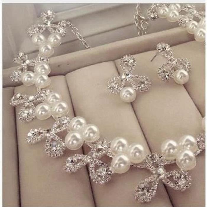 la mariée ornent larticle 2 pièces marie korean grand collier de perles pearl mariage accessoires
