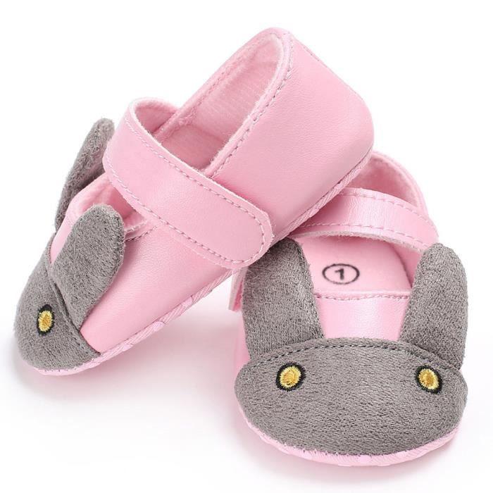 BOTTE Bébé nourrisson enfants fille en cuir Toddler nouveau-né chaussures@RoseHM Nb2Ne