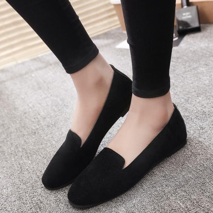 Plat Peu Chaussures xbj80710672bk Femmes Simple Slip Sandales Profond Toe On Souliers noir Rond qIPtC4w