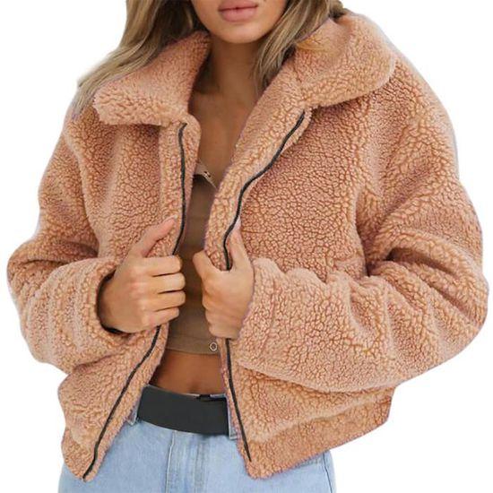Zipper Manteaux D'hiver Dames Artificielle Pageare9422 Veste Laine Chaud Femmes Manteau Parka Sgwzq1wX