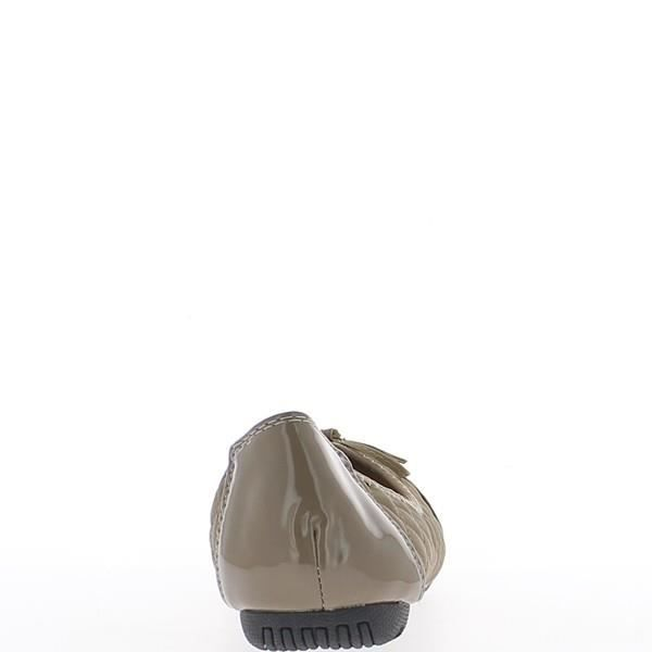 Ballerines grande taille taupe b...