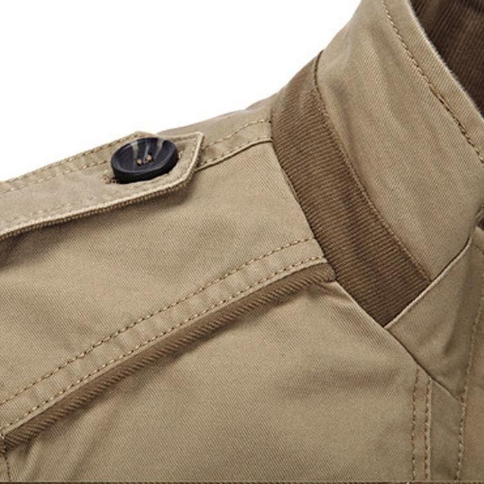 Armée Fit Zippé Coton 3x5zoo L'air Chaud Manches Militaire Jacket Longues Pour Taille Casual x Lightweight Veste En Hommes De Slim q78wt7axT