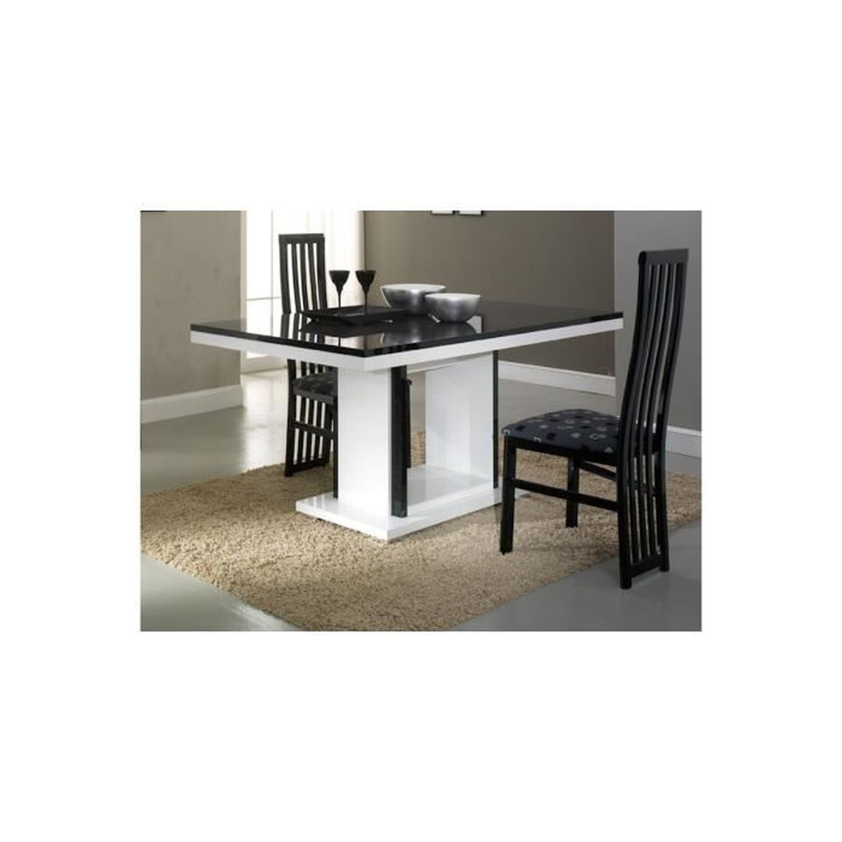 Table rectangulaire pied central achat vente table for Table rectangulaire pied central