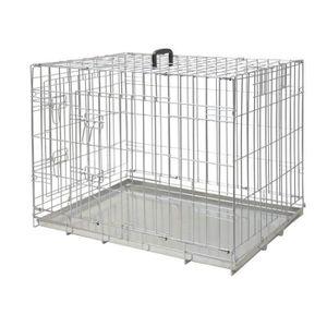 NOBBY Cage métallique zinc - 109x71x79cm - Pour chien