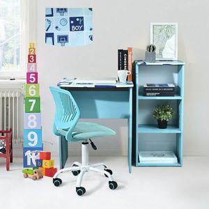 BUREAU  Bureau enfant classique en PVC, table ordinateur -