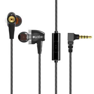CASQUE - ÉCOUTEURS 3.5MM Ecouteurs oreillettes audio casque stéréo éc