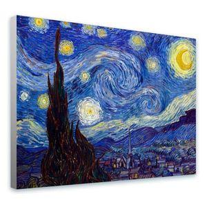 TABLEAU - TOILE Starry Night Vincent Van Gogh COUVERCLE ENCASTRÉE