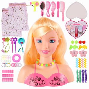 TÊTE À COIFFER Barbie Girl Model Toys têtes buste avec cosmétique