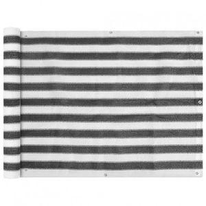 CLÔTURE - GRILLAGE Brise-vue pour balcon gris anthracite/blanc 400x90